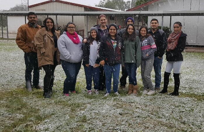Snow fall over STAAR